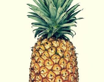PINEAPPLE Photography, ANANAS, Vintage Pineapple Photo, Food Photography, Pineapple, Fruit Photography, Minimalism, Tropical, Kitchen Art