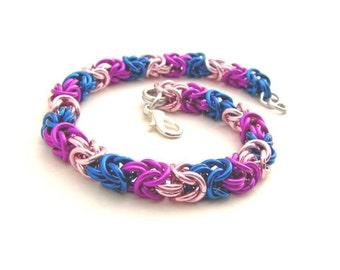 Pride not Prejudice Braid Chainmaille Bracelet