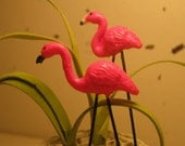 Miniature Pink Flamingo Dollhouse or Fairy Garden Display Accessory