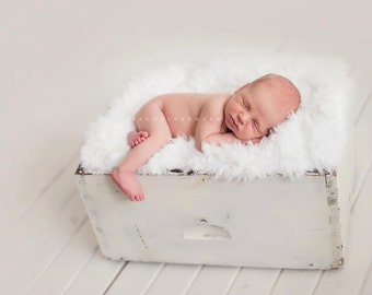 Leighton Heritage - Soft, Cozy, Cuddly Faux Fur Nest - Perfect Newborn Photography Prop - Neutral Posing Organic Feel Large Layering Stuffer