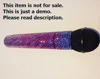 Made To Order CUSTOM Swarovski Crystal Microphone