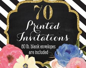 Invitation Printing - Set of 70 - 5x7