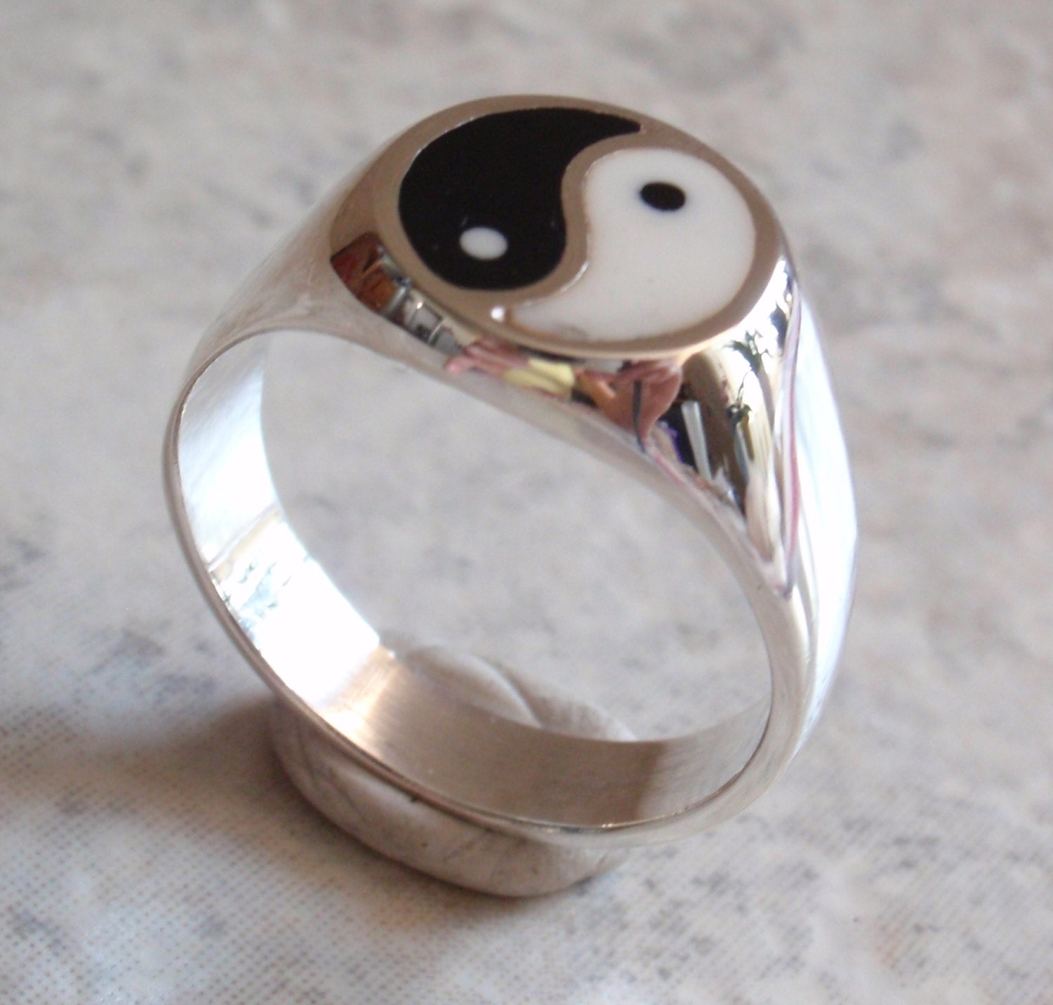 yin yang ring sterling mexican silver large by cutterstone