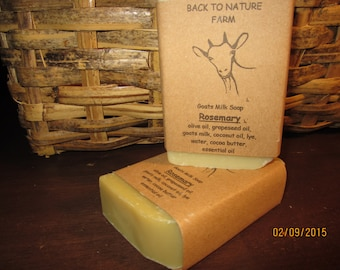 Handmade Rosemary Goats Milk Soap