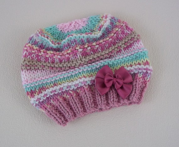 Baby Knitting Pattern Easy Knit Baby Hat Download PDF