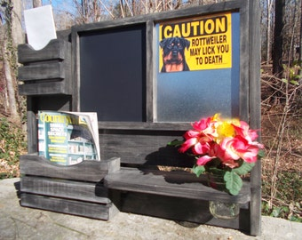 A Kitchen organizer/ Magnetic Board/ Message Center /Office Decor /Chalkboard/Farmhouse