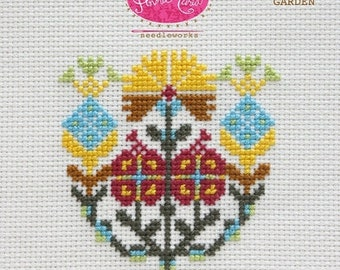 Complete Kit - Anna Maria Horner Needleworks Cross Stitch - Native Garden