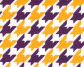 Fabric Finders Purple and Gold Houndstooth