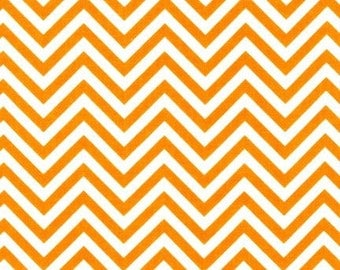 Remix Small Tangerine Chevron Cotton from Robert Kaufman