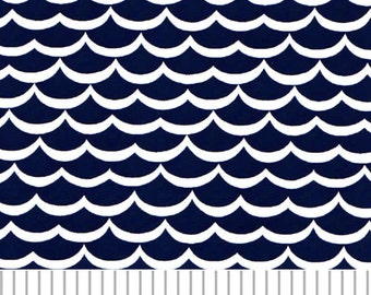Fabric Finders Navy Waves