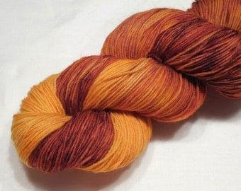 Merino nylon yarn fingering weight yarn sock yarn 96g (3.4oz) variegated yarn - Crazy honey