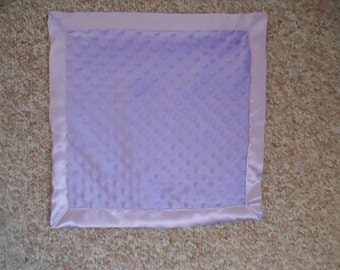 Personalized Lavender Minky Silky 15x15