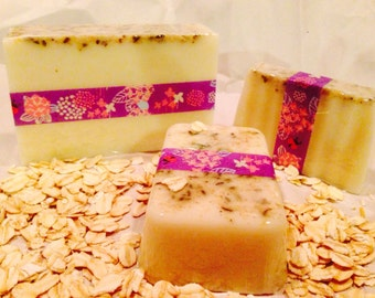 Nag Champa Goats Milk Soap, available in 3 sizes