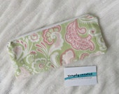 Green Pencil Case Pink White Green Cute Pencil Case Long Zipper Pouch