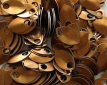 100 Bronze Anodized Aluminum Scales, Chainmaille Supplies, Jewelry Making Supplies, Scale Maille Supplies