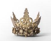 Crown Cake Topper, Gold Crown, Wedding cake topper, Santos Style Crown