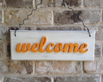 Welcome Sign for wall and home decor