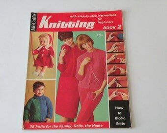 Mccall's Knitting Book 2 with step-by-step instructions for beginners  by Knitting Editor Gena Rhoades Editor in Chief Nanina Comstock