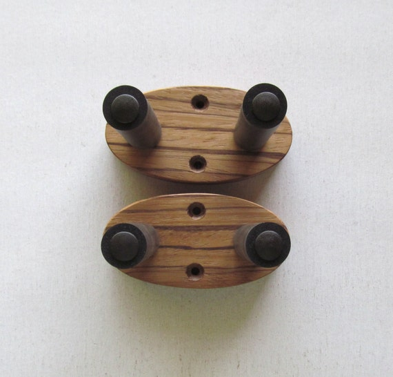 zebrawood ukulele wall mount hangers natural finish by toucanmango. Black Bedroom Furniture Sets. Home Design Ideas