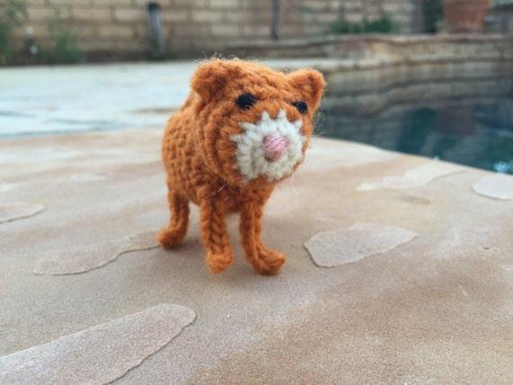 Amigurumi Tabby Cat : Items similar to Crochet Orange Tabby Cat Amigurumi Small ...