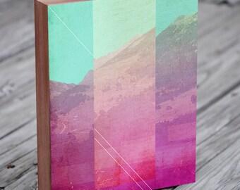 Glitch Art - Abstract Print - Abstract Poster - Wood Block Art Print