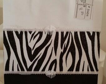 Black and White Zebra Print Gift Bag