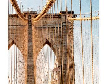 Art, Photography, New York City Art, Brooklyn Bridge, Urban, Wall Decor, Print, NYC, Cottage Light Studio