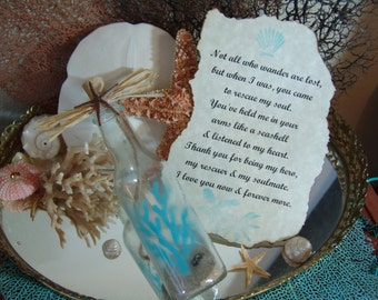 Message in a Bottle Valentine's Day Gift with Love Note