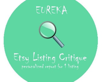 Etsy Listing Critique - Personalized Analysis of 1 Listing in your Etsy Store