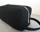 Shoe Carrier or Toiletry Bag -- Quilted Black