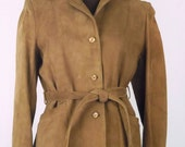 Vintage 70's Women's Suede Jacket Blazer Brown Size S / Small