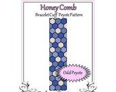 Bead Pattern Peyote(Bracelet Cuff)-Honey Comb