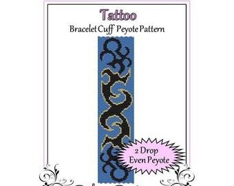 Bead Pattern Peyote(Bracelet Cuff)-Tattoo