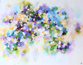 art -abstract painting- Acrylic  painting-Acrylic abstract painting-purple-modern abstract art Canvas Wall art - contemporary art