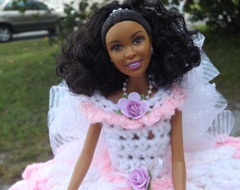 BLACK BARBIE DOLL/ Toilet paper doll/cover