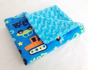 Car Baby Blanket - Truck Baby Blanket - Baby Boy Automobile Blanket - Minky Baby Blanket - Minky Boy Blanket - Newborn Boy Blanket - Plane