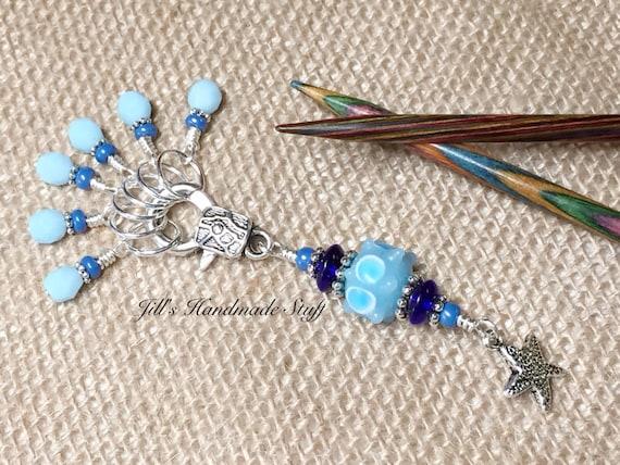 Beaded Knit Stitch Marker Pattern : Starfish Stitch Marker Holder & Beaded Stitch Markers Snag