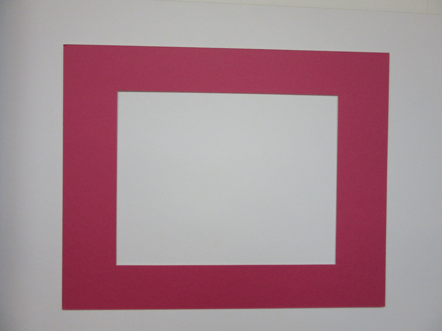 Picture Frame Mat Hot Pink Single Mat 11x14 For 8x10 Photo