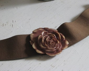 Rose Buckle Large Size Cinch Belt by Pearl