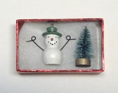 Snowman, Bottle BrushTree, Miniature, Christmas, Winter, Craft Project, Supply