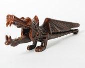 Sale off 20% vintage metal Dragon, nut cracker.