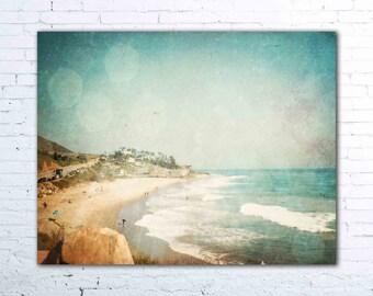 malibu california wall art - aqua pacific ocean photography - california print