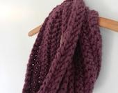 Fig Crocheted Chunky Cowl