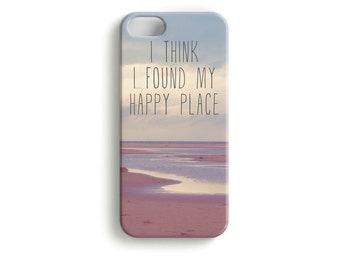 "phone Case ""happy place"" typography photo"