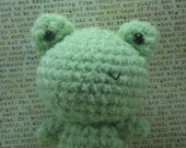 Frog Rattle Toy Amigurumi Plush