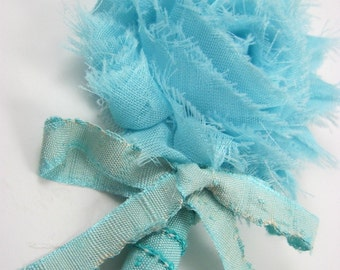 aqua blue boutonniere - groom - groomsmen - custom color - Boutonniere SALE - wedding accessories