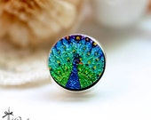 20% off -NEW Unique 3D Embossed  Peacock 16mm Round Handmade Wood Cut Cabochon to make Rings, Earrings,Necklaces, Bracelets-(WG-49)