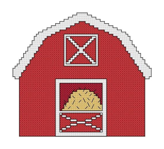 Farm Cross Stitch Pattern Of Cute Farm Animals Cow Pig