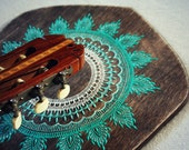guitar holder, guitar gift, boho home decor, instrument holder, guitar wall hanger