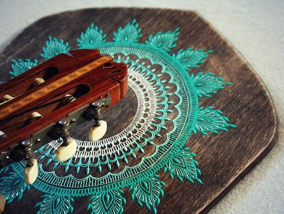 Guitar Holder Guitar Gift Boho Home Decor By OurFolkLife